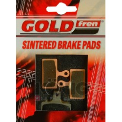 Serie pastiglie freno  GOLDFREN - 848DS with spring - (shimano G02 - 985)
