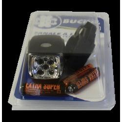 """Fanale batteria Büchel, anteriore al manubrio, """"VALLEY"""", 5 Led, 3xAAA, nero"""