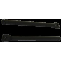 Attacchi portapacchi post. Hebie , L160 dritti (al paio), black
