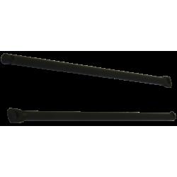 Attacchi portapacchi post. Hebie , L240 dritti (al paio), black