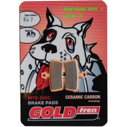 SERIE PASTIGLIE FRENO GOLDFREN - 847AD WITHOUT SPRING - (AVID CODE)
