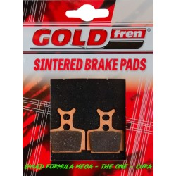 SERIE PASTIGLIE FRENO GOLDFREN - 841AD WITHOUT SPRING - (FORMULA MEGA e THE ONE e CURA)