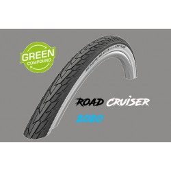 "Cop. Schwalbe 28""  (42 622)-(28x1.60)-(700x40C) Road Cruiser, HS484, KG, GnG, twin, Black/White"