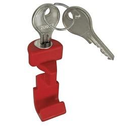 Pulsante rosso Klickfix x attacco manubrio 211 con chiave (5 pezzi)