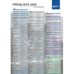 Tabella Prezzi al pubblico pneumatici Schwalbe e Procore 2020 Tedesco
