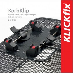 Easy flyer KLICKfix borse compatibili KorbKlip Tedesco-Inglese