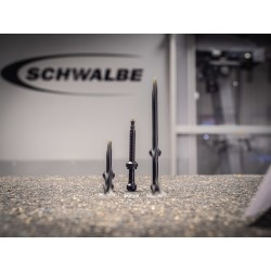 Valvole Schwalbe Tubeless, L. 60mm, conf. 2 pezzi, nera