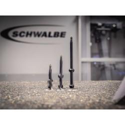 Valvole Schwalbe Tubeless, L.100mm, conf. 2 pezzi, nera