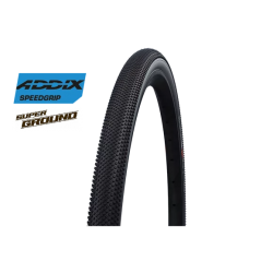 "Cop. Schwalbe Pieg. 28"" (40 622)-(28x1.50)-(700x38C)  G-One Allround, HS473, SuperGround, Addix Spg, TL-Easy, Black"