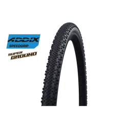 "Cop. Schwalbe Pieg. 28"" (40 622)-(28x1.50)-(700x38C)  G-One Bite, HS487, SuperGround, TL-Easy, Addix SpG, Black"