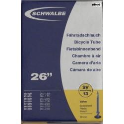 Camere Schwalbe 26 x  1.75 / 2.50 (SV 13) L. 60mm