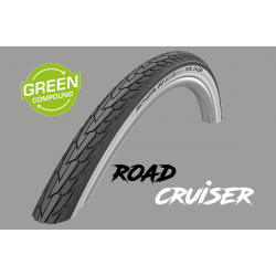"Cop. Schwalbe 26""  (47 559)-(26x1.75) Road Cruiser, HS484, KG, GrG, twin, Whitewall"