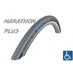 "Cop. Schwalbe 24"" (37 540)-(24x1.3/8) Marathon Plus HS440, Performance, SG, GRC, twin, Grey/Black"