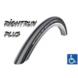 "Cop. Schwalbe 24"" (25 540)-(24x1.00) RightRun PLUS HS387, SmartGuard, BnR, twin, Grey stripes"