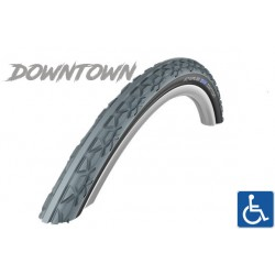 "Cop. Schwalbe 24"" (25 540)-(24x1.00) DownTown HS342, KG, GRC, lite, grey/black"