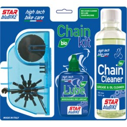 "Kit catena Star BluBike ""CHAIN KIT Bio"" (Sgrassante Bio Cleaner, Lubrificante Bio Lube, Pulisci catena)"