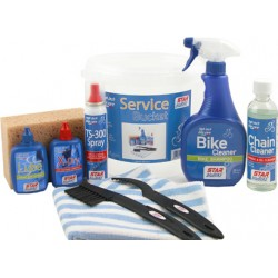 Kit pulizia Star BluBike, SERVICE  (cleaner + bike cleaner + 2x TS-200 + X-Dry + Lube + spazzola + spugna +...