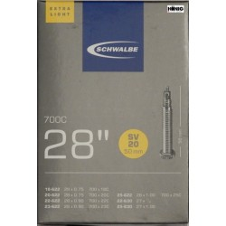 Camere Schwalbe 28 x 0.75 / 1.00 (SV 20) Extra light  L.50mm