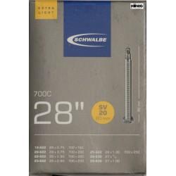 "Camere Schwalbe 28"" (18/25 622) SV 20,  Extra Light, L.80mm"