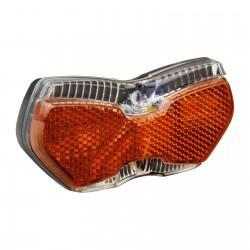 """Fanalino B+M, a dinamo, al portapacchi, """"TopLight View Brake Plus"""", BrakePlus, LineTec x 2, 2Led, con posizione"""