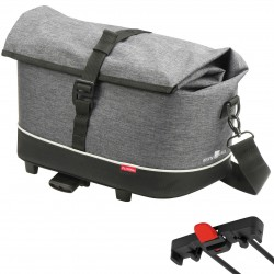 "Borsa RK post. superiore 10.0 L. ""RACKPACK CITY"". dim.28xXx35. RackTime. grigio/nero"