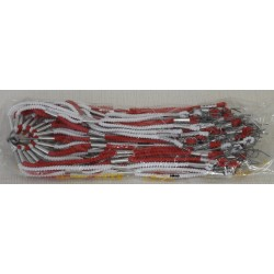 Retine elastico Lusso CARLA, rossobianco