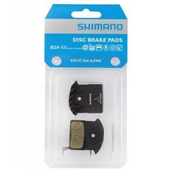 Serie pastiglie freno  SHIMANO J02A (M985/M785/…..) resina, lamelle alluminio